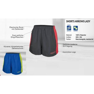 ARROWS LADY Shorts blau/neongrün XXS-3XL