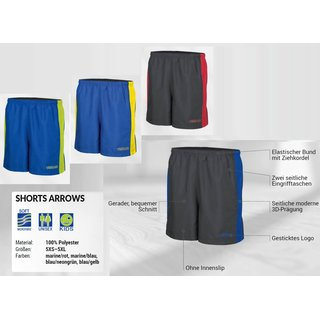 Shorts ARROWS marine/rot 5XS-5XL